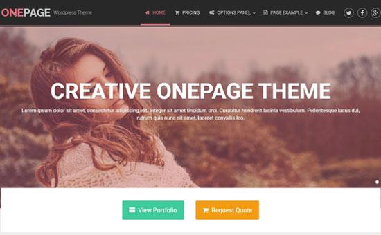Single page Wordpress Templates